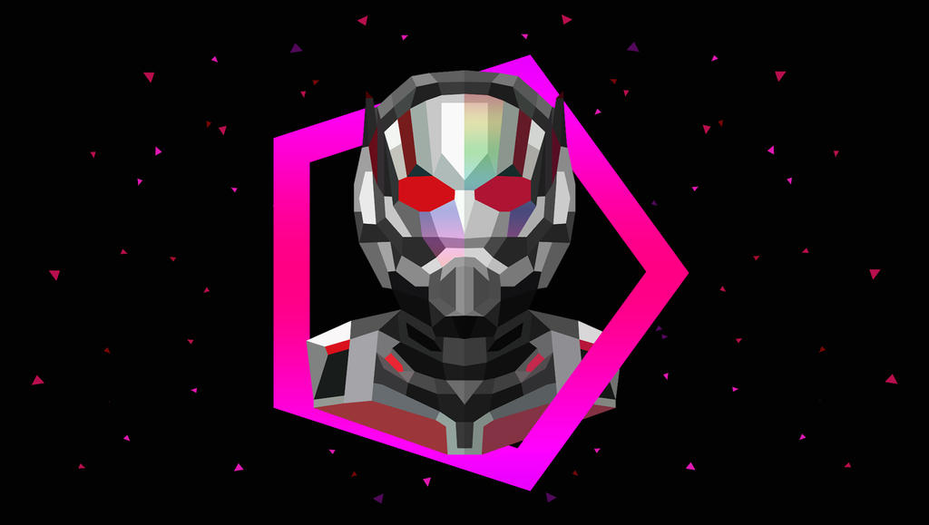 Low Poly Art - Antman by giftmones