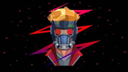 Low Poly Art - Starlord by giftmones