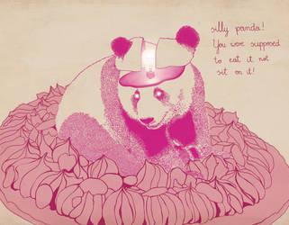 Silly panda by fuzen-hasu