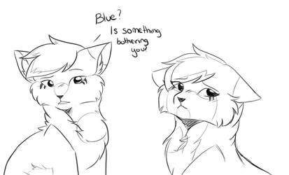 Is something bothering you? by BlueFlame34