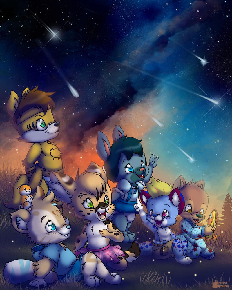 Watching the Night Sky by Lil-Ronnie
