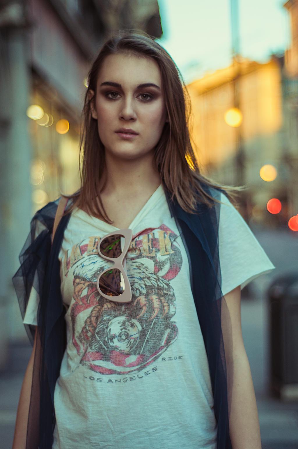 Urban Stranger - Blue hour 4 by Michela-Riva