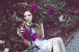 Serena at the Botanical Garden VII by Michela-Riva