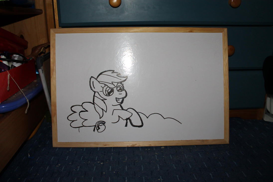 Old My Rainbow Dash Drawing On A Whiteboard By