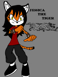 jessica the tiger (bio in the discription) by ChunkyTheLunatic