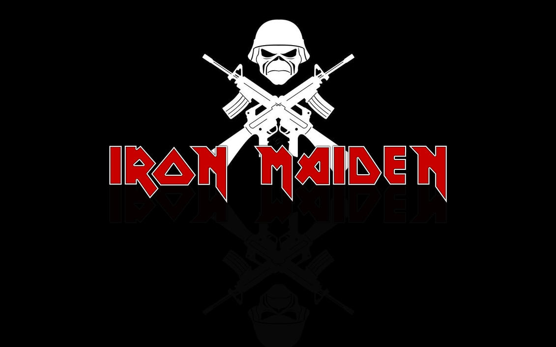 Iron Maiden Logo Wallpaper By GilfordArt