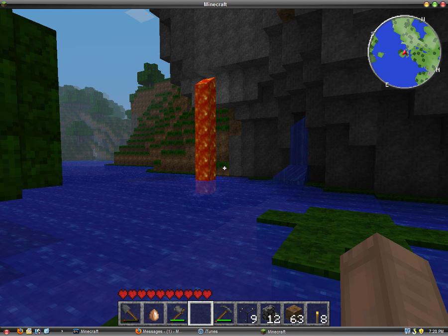 MINECRAFT: Lava Fall by minecraftplz on DeviantArt