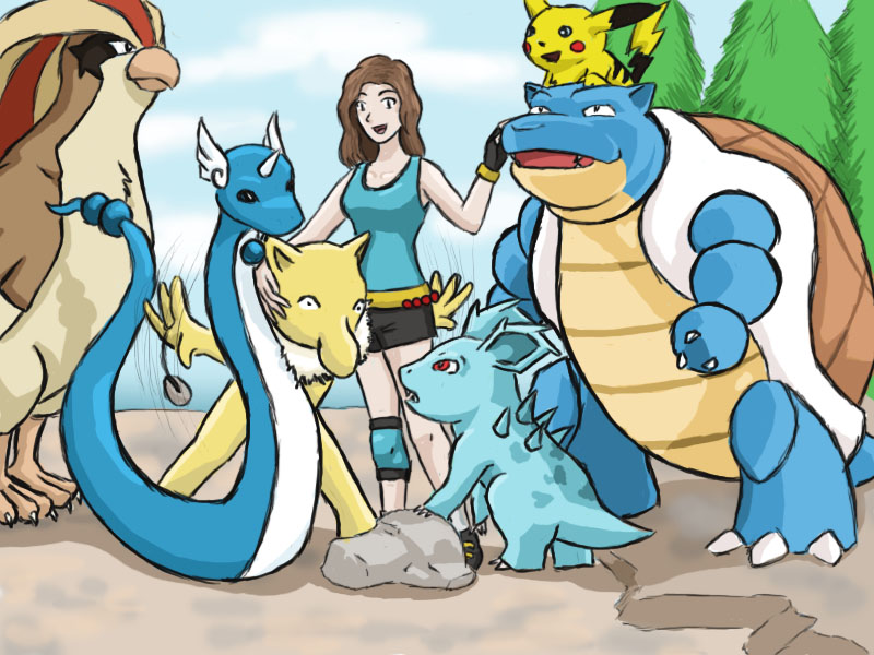My Team: LeafGreen by Draw4life