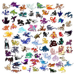 A bunch of httyd dragon requests by SappyScarfy