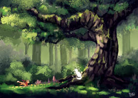 Forest cats by SappyScarfy