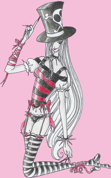 x red x striped x witch by suizidhasi