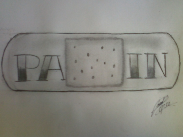Pain band aid tattoo design by pt010189 on deviantart for Band aid tattoo