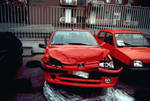 Peugeot 106 crashed