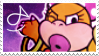 Wendy Koopa Stamp by WebbiSnekki