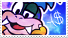 Larry Koopa Stamp by WebbiSnekki