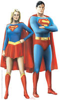 Superman and Supergirl by dominiquefam