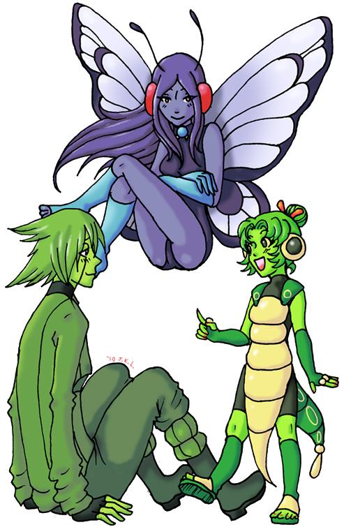 Pokemon Gijinka 010-012 by Akumabaka on DeviantArt