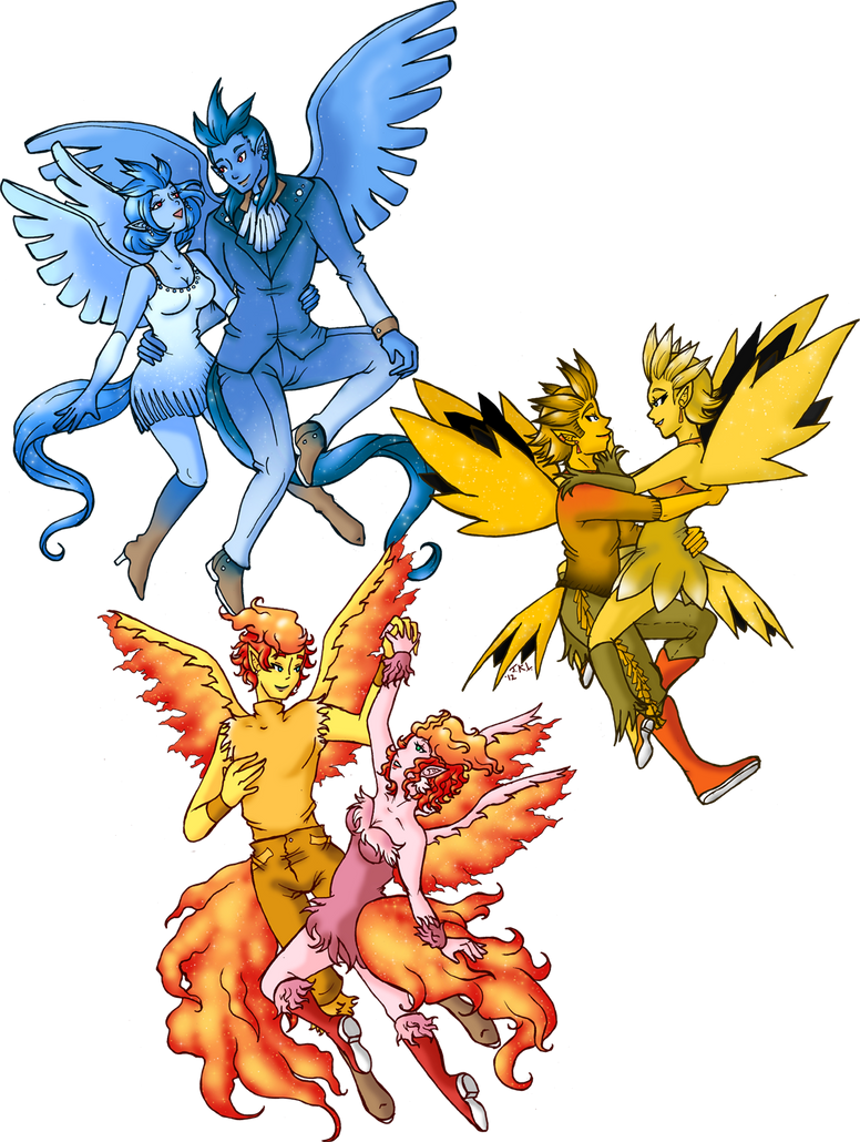 Zapdos Gijinka Pokemon Gijinka 144 -1...