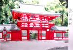 Shinto shrine by carmenharada