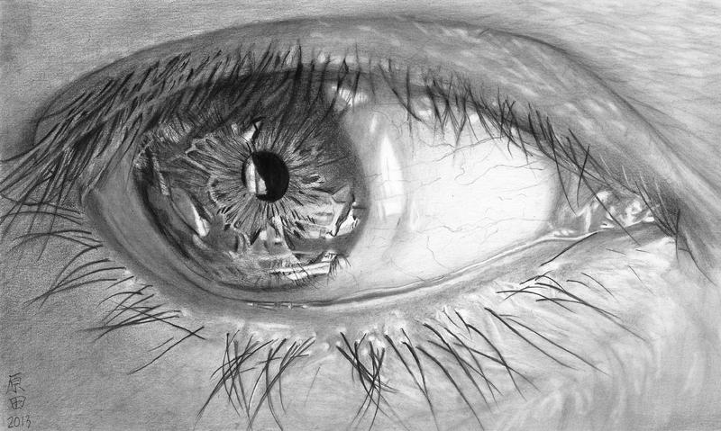 EYE with CONTACT LENS by carmenharada