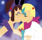 Kisses above Earth's Destruction