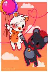 Love can be in the air [ M Freddy x Lefty ] :GIFT: by Aunty-chick