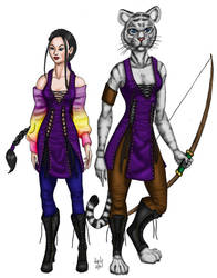 Tabaxi Ranger - Colored