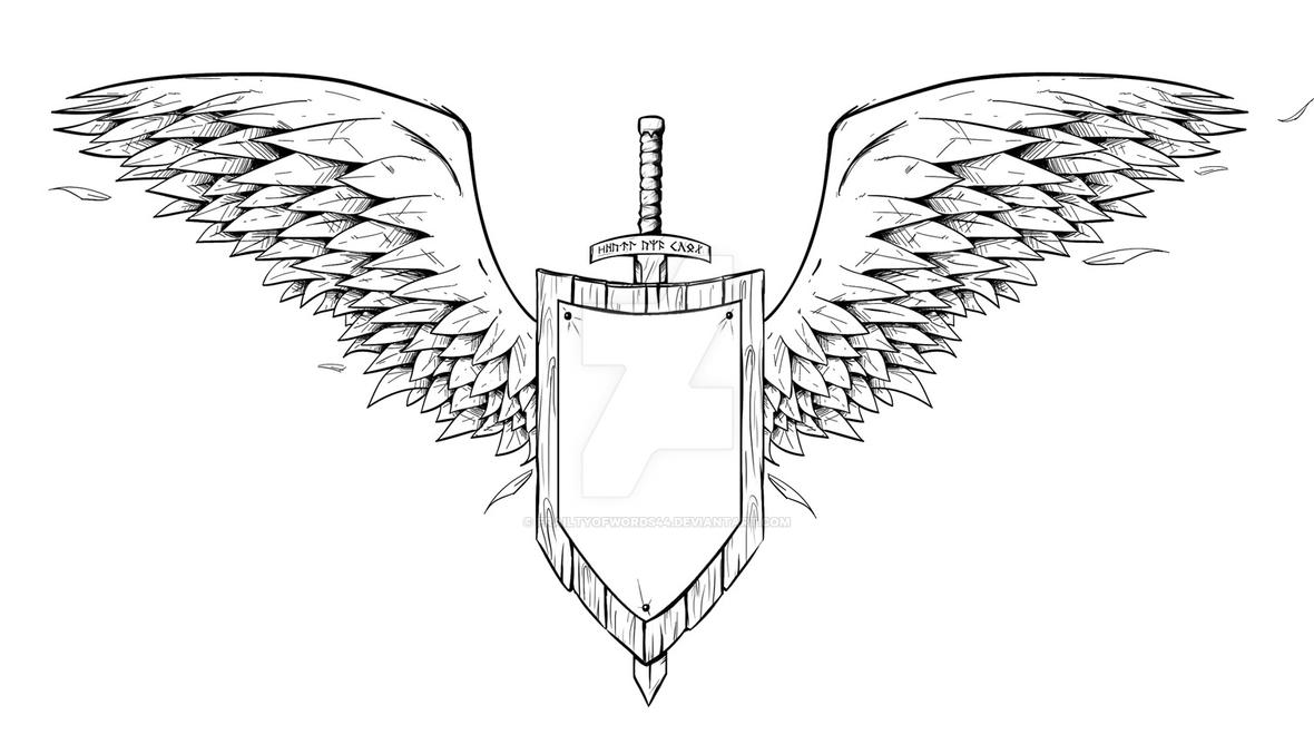 angel knight tattoo inks by frailtyofwords44 on deviantart. Black Bedroom Furniture Sets. Home Design Ideas