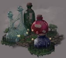 Bottle City by MintyDinosaur