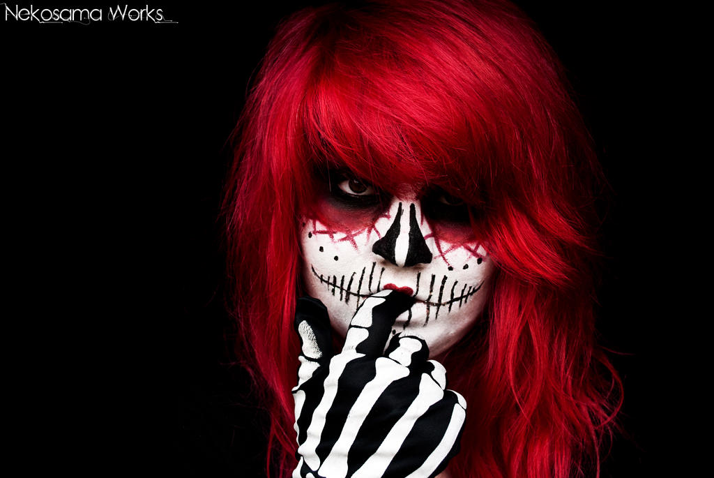 Mexican Redhaired Skull by NekoSamaWorks