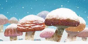 Mushroom Forest in Winter