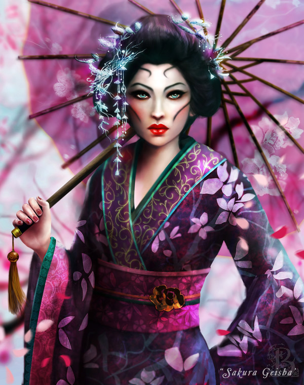 Sakura Geisha by BrookeGillette