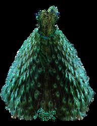 Emerald Peacock Dress by BrookeGillette