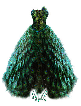 Emerald Peacock Dress