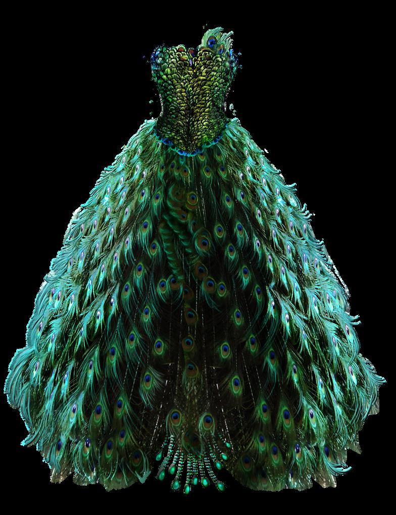 b1413eb844a Emerald Peacock Dress by BrookeGillette on DeviantArt