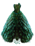 Emerald Peacock Dress