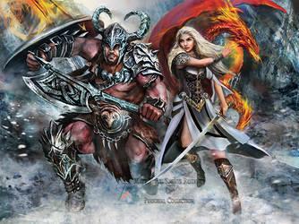 Viking Warriors by BrookeGillette