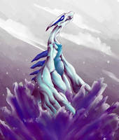 Lugia Used Fly by dragonrage-