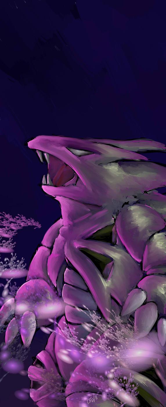 Tyranitar Used Dark Pulse by dragonrage- on deviantART