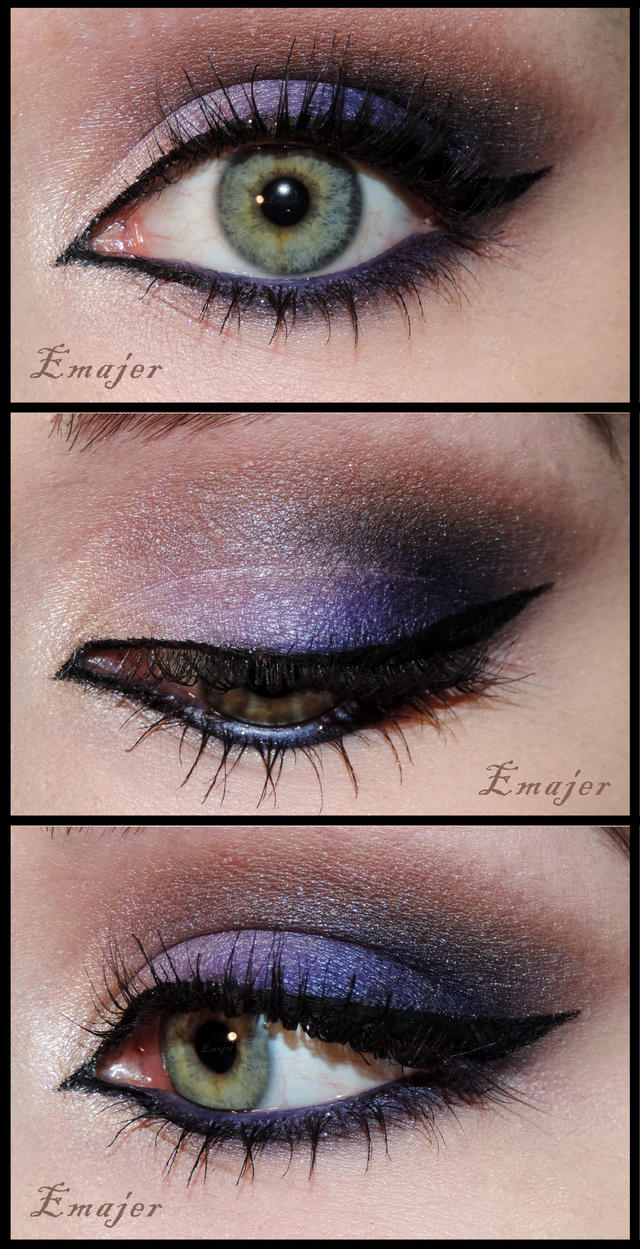 Purple Arabic Makeup by Emajer