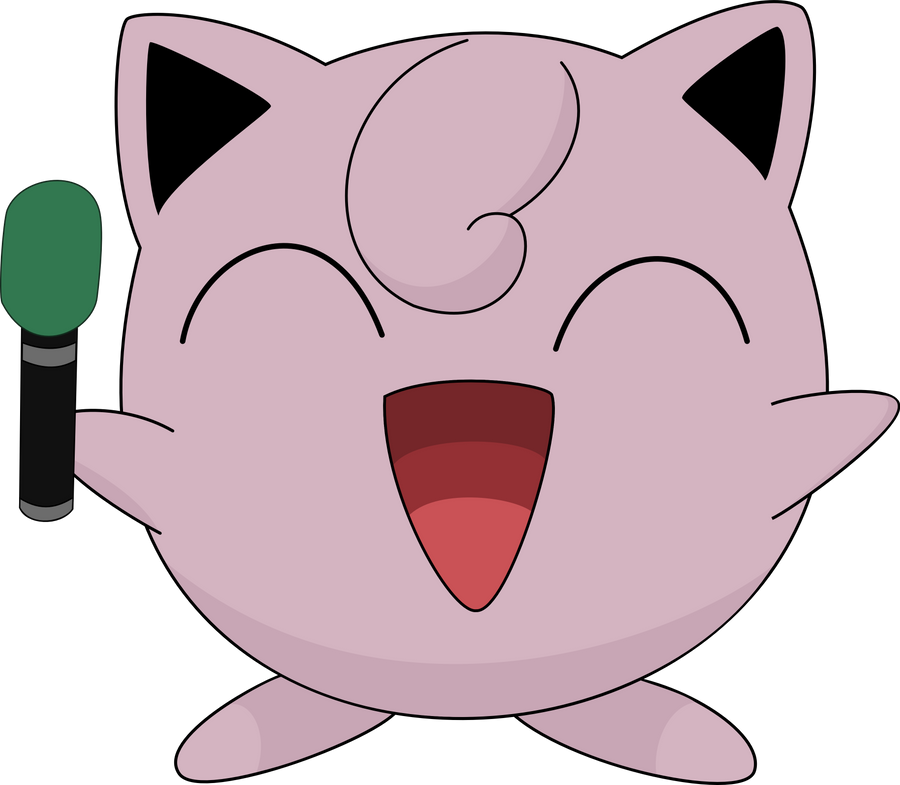 Jigglypuff with mic by J0kuc on - 121.5KB