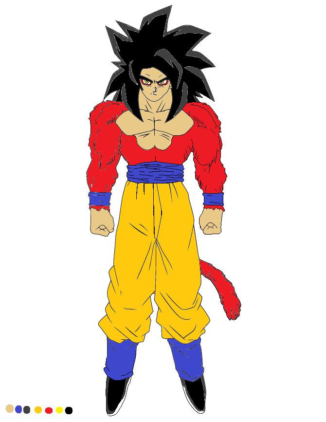 Super Saiyan 4 Goku - WiP by Kar-jinDragonGoddess