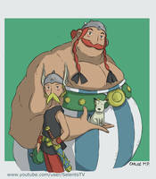 Asterix and Obelix anime style