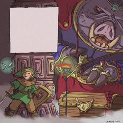 Link vs Ganondorf - Fan art - the legend of Zelda by Carlos-MP