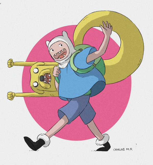 Jake and Finn hora de aventuras adventure time by Carlos-MP