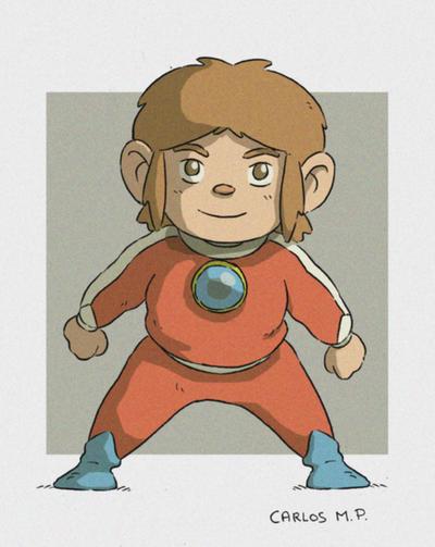 Alex Kidd in Miracle World Fan art dibujo by Carlos-MP