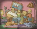 The Simpsons anime style fan art