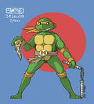 TMNT 87 Michelangelo fanart