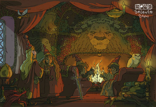 Harry Potter Gryffindor Common Room Fanart