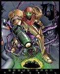 Samus Aran of Metroid COLORED